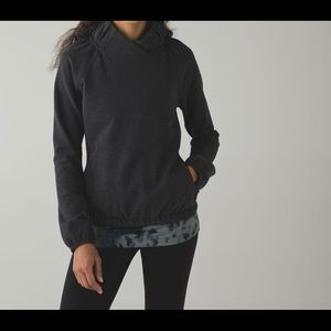Lululemon charcoal grey after all hoodie pullover